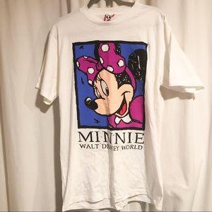 VTG Disney Minnie Graphic T-Shirt sz L